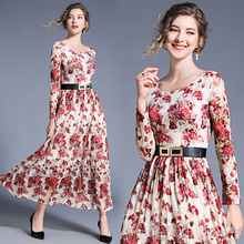 Banulin New Fashion 2019 Runway Maxi Dress Womens Long Sleeve Elegant Lace Party Female Autumn B8185