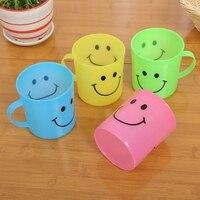 24x детские пластиковые чашки с смайликом, кружки с ручкой, набор для путешествий и вечеринок
