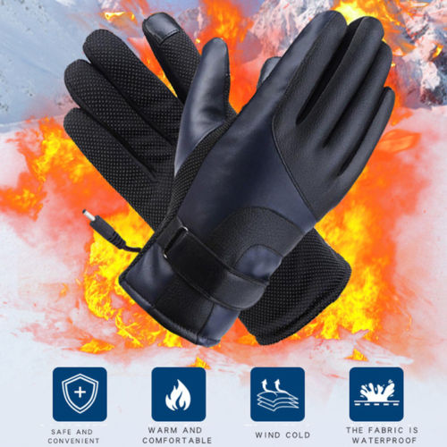 Battery Powered Winter Warm Touchscreen Gloves Electric Rechargeable Hand Warm Heated Gloves