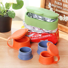 Magic Sealer Bag Clips Silicone Kitchen Tool Food Sealing Clamp Fresh Preserve Multifunctional Sealing Cap S/M/L Green Orange(China)