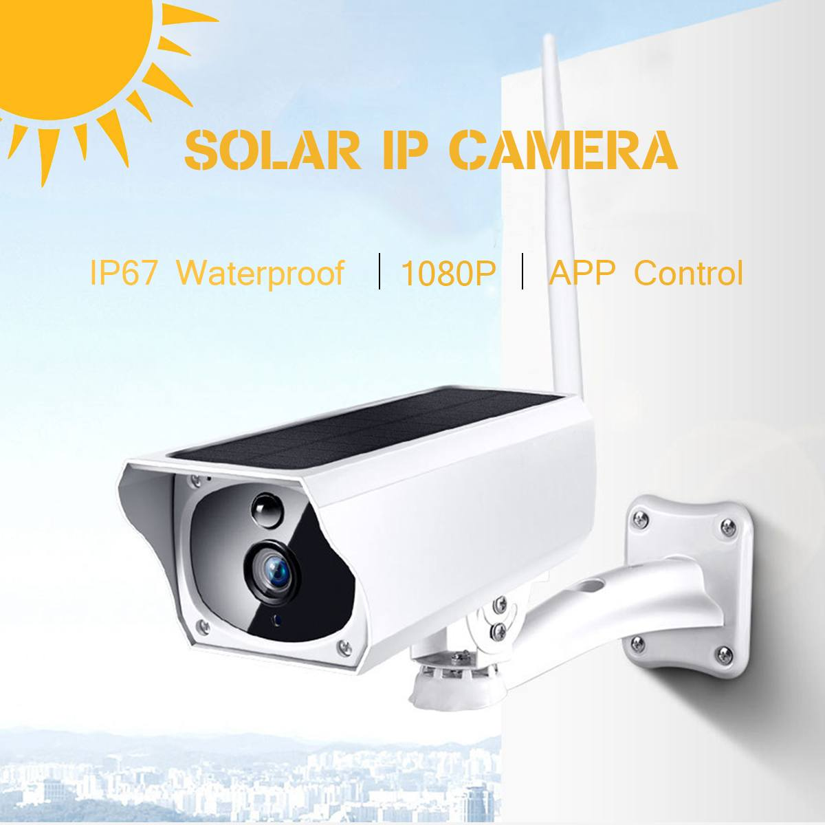1080P Security Solar Camera Wireless Remote Monitoring Outdoor Waterproof PIR Motion Sensor Wifi IP Camera Built in Battery