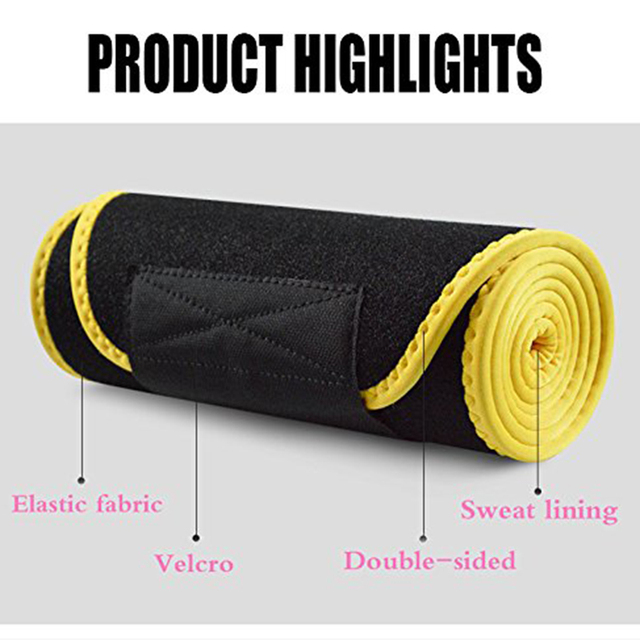 20*110cm Neoprene Sweat Belt Waist Trimmer Belt Weight Loss Sweat Band Wrap Fat Tummy Stomach Sauna Sweat Belt For Walking 2