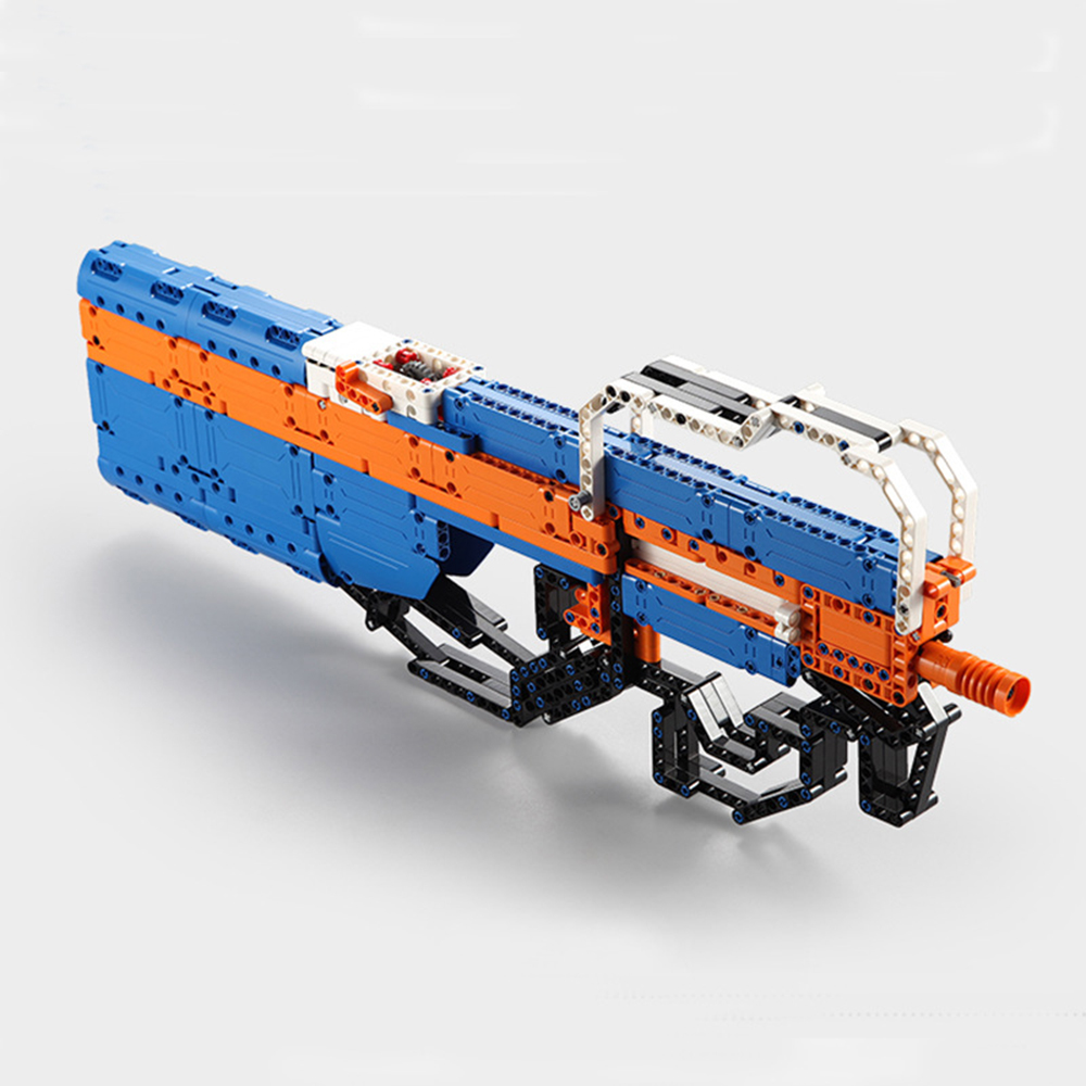 building blocks P90 Assualt Rifle gun  military bricks weapon set can fire  rubber band  toy for children boys 5
