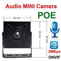 Audio Mini Macchina Fotografica del Ip 720 P 960 P 1080 P Hd POE Cctv di Sicurezza Video Sorveglianza 2MP Coperta di Sorveglianza A Casa di Rete Onvif Ipcam
