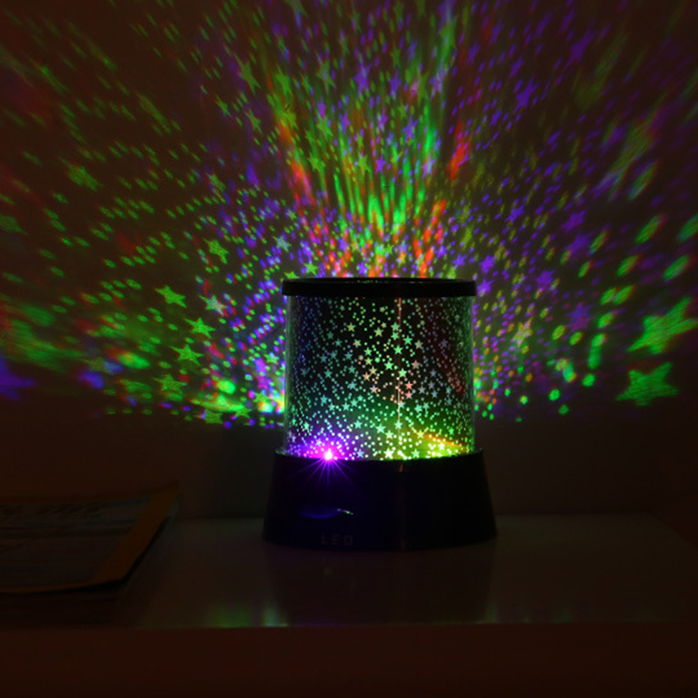 Image 2 - LED Night Light Projector Starry Sky Star Moon Round Stage Light Kids Sleep Romantic Colorful Led USB Lamp For Bedside Bedroom-in Night Lights from Lights & Lighting