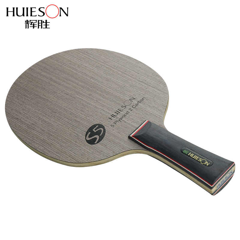 Huieson Prime Quality Technology Surface Ayous Carbon Fiber Big Central Paulownia Wood Table Tennis Racket Blade for Adults S5