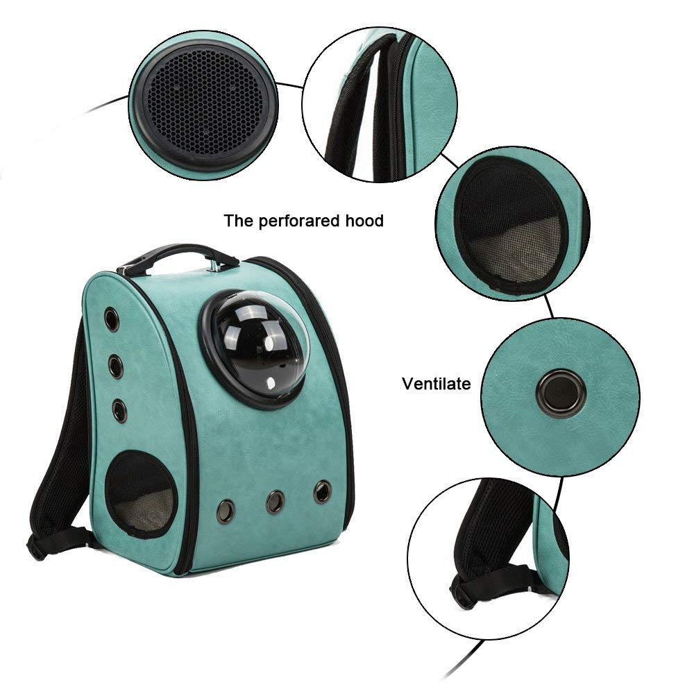 Smartlife Pet Carrier Backpack Space Capsule PU Leather Dog Cat Small Animals Travel Bag Cat Backpack Carrier Capsule Cat Bag