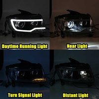 Car Styling Head Lamp LED Headlight H7 D2H for Hid Option Angel Eye Bi Xenon Beam for Jeep for Compass 2011 2017