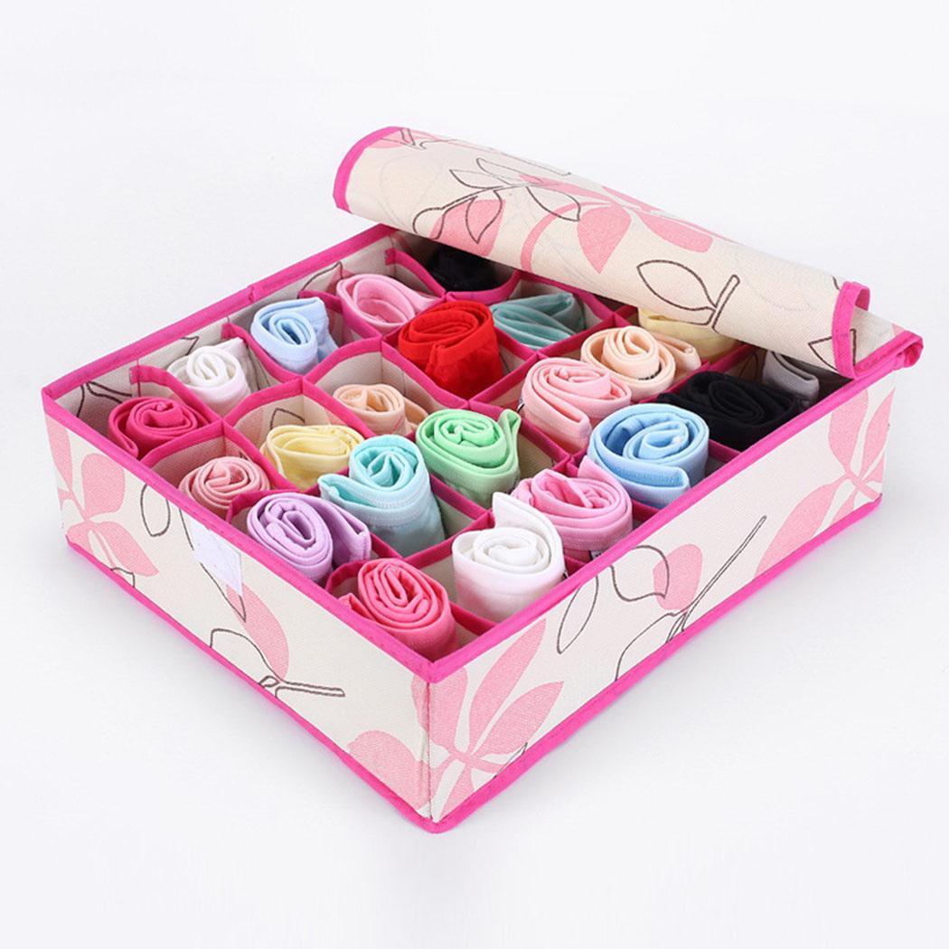 Clothing Organizer Underwear Socks Storage Closet Drawer 24-Grids Container-Holder Casual-Box