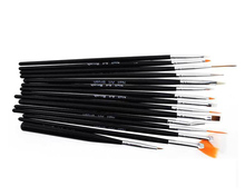 Nail brush 15 sets of painted pens  White Black Pink Rose red polished rod 4 colors