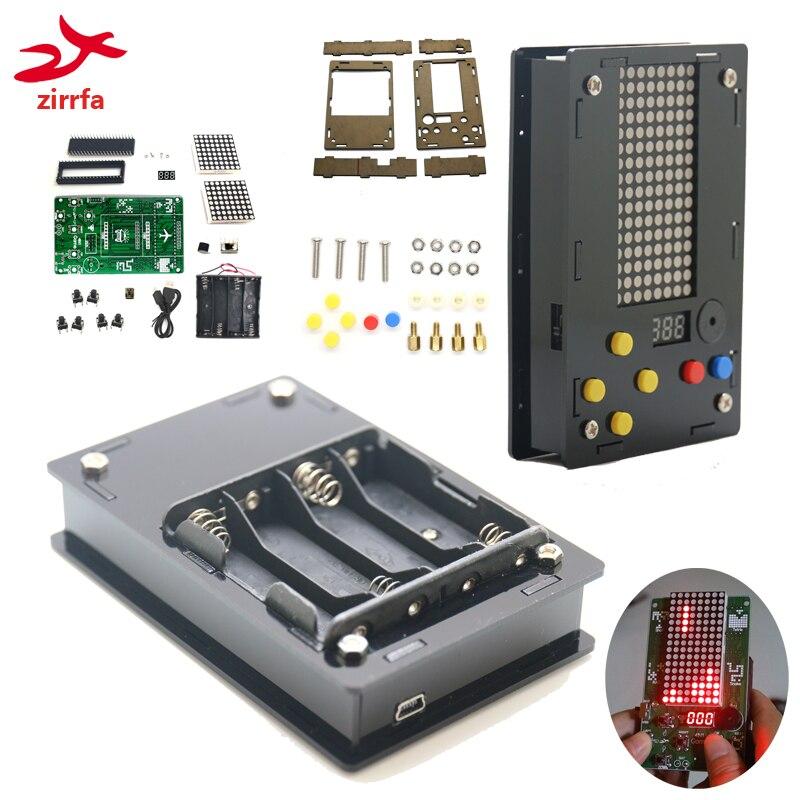 Преимущество оптовая торговля электронный DIY набор 8x16 матричный игровой автомат для тетрис/змея/выстрел/гонки с акриловым Diy Набор электрон...