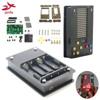 Advantage Wholesale Electronic DIY Kit 8x16 Dot matrix game machine for Tetris/Snake/Shot/Racing with Acrylic Diy Kit Electronic