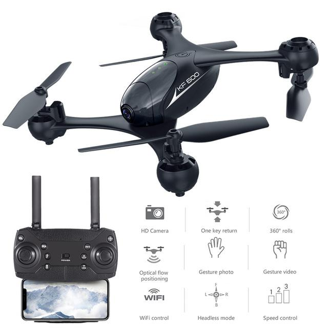 KF600 RC Quadcopter Drone with 720P Camera 3D Flip Headless Mode Gesture Auto-photo Altitude Hold Optical Flow Positioning ModelKF600 RC Quadcopter Drone with 720P Camera 3D Flip Headless Mode Gesture Auto-photo Altitude Hold Optical Flow Positioning Model