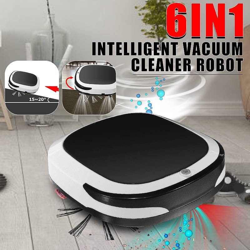 Robot intelligent Rechargeable 2000PA aspirateur sec humide balayage sans fil automatique balayeuse de poussière Machine pour le nettoyage à la maison