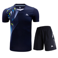 New badminton T shirt, men's and women's tennis shirts, sportswear short sleeves, fast drying breathable table tennis sportswear