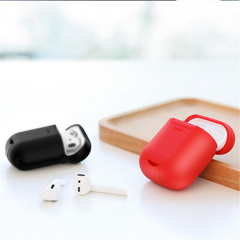 Image 3 - Portable Protector Wireless Earphones Charging Receiver Case Silicone Soft TPU Ultra Thin Protective Cover For Apple Airpods-in Earphone Accessories from Consumer Electronics