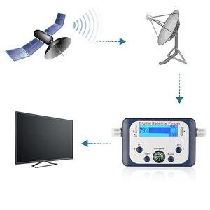 Image 5 - Powstro uniwersalna GSF 9506 cyfrowa wyszukiwarka satelitarna telewizja satelitarna Mini antena satelitarna z ekranem LCD do telewizora