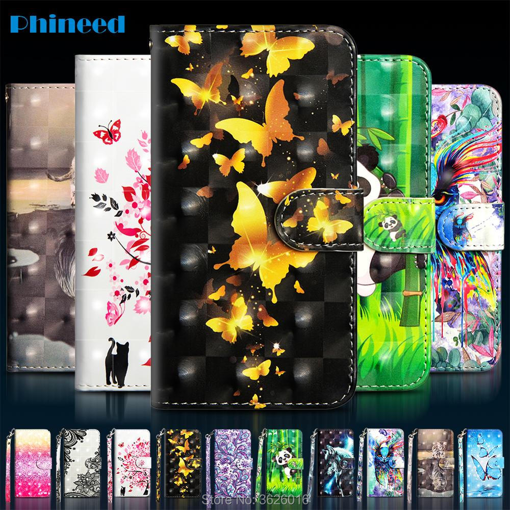 Phone Etui Coque Cover Case for <font><b>Samsung</b></font> galaxy <font><b>J3</b></font> J5 J7 <font><b>2017</b></font> S8 S9 S8Plus S9Plus Plus With Glossy 3D Painted Leather Flip Wallet image