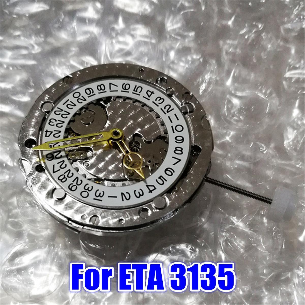 Hommes femmes montre-bracelet en métal mouvement automatique pièces remplacement pour ETA 3135 chine outils de réparation Kit montres accessoires
