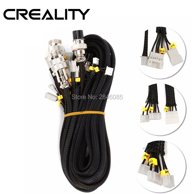 CREALITY 3D Printer Parts Extension cable kit for CR-10/CR-10S Series 3D Printer CREALITY 3D Printer Parts Extension cable kit for CR-10/CR-10S Series 3D Printer