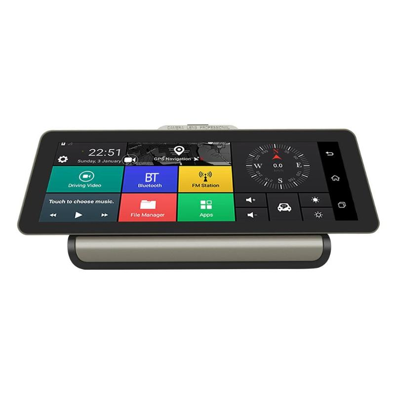 VODOOL 10 Quad Cord Android 5 1 Car DVR Dash Cam Dual Lens 1080P Video Recorder