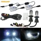 FEELDO 1 satz Auto Scheinwerfer AC 12 v 55 watt H4 HID Xenon Birne Hallo/Lo Strahl Bi xenon Lampe Licht Dünne Drossel HID Kit # MX4485