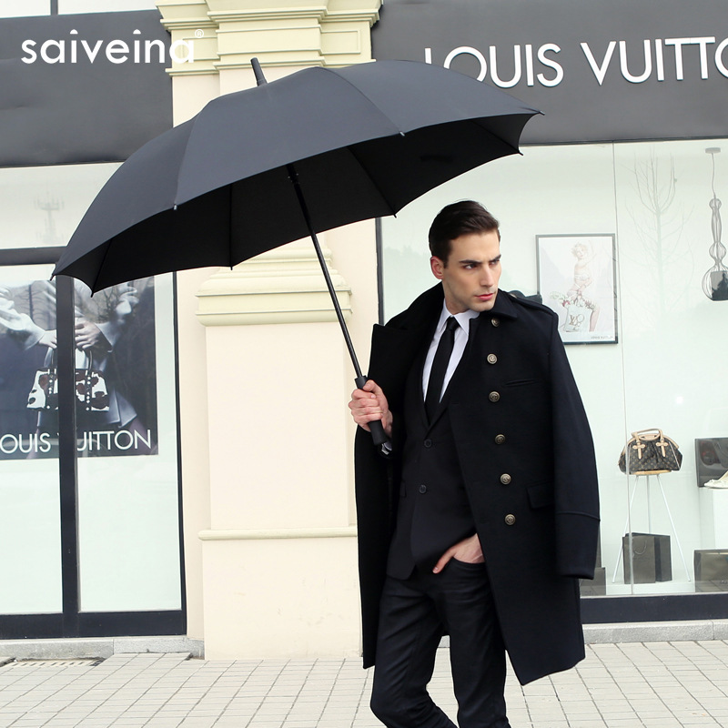 Large Sale Business Automatic Golf Umbrella Long Handle Rain Men Women