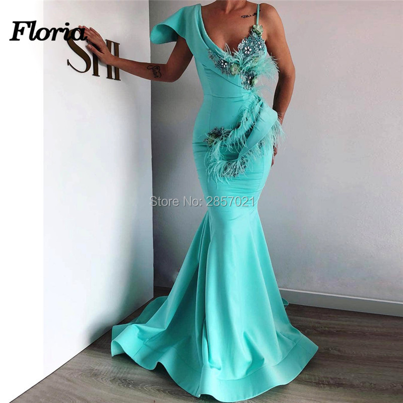 Sheer Mermaid Evening Dresses Custom Made Arabic Aibye New Women Long Prom Dress 2019 Islamic Ayaba Formal Pageant Gowns Vestiso