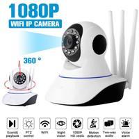 1080P 3.6mm 2.0MP Home Security Wireless IP Camera CCTV Surveillance Video Mini Wifi Camera Night Version PTZ Cam Baby Monitor computer case