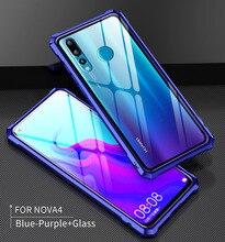 Huawei Nova 3 3i Nova4 Bumper Nova3 Clear Tempered Glass Back Cover with Metal Frame Case for P Smart Plus 4