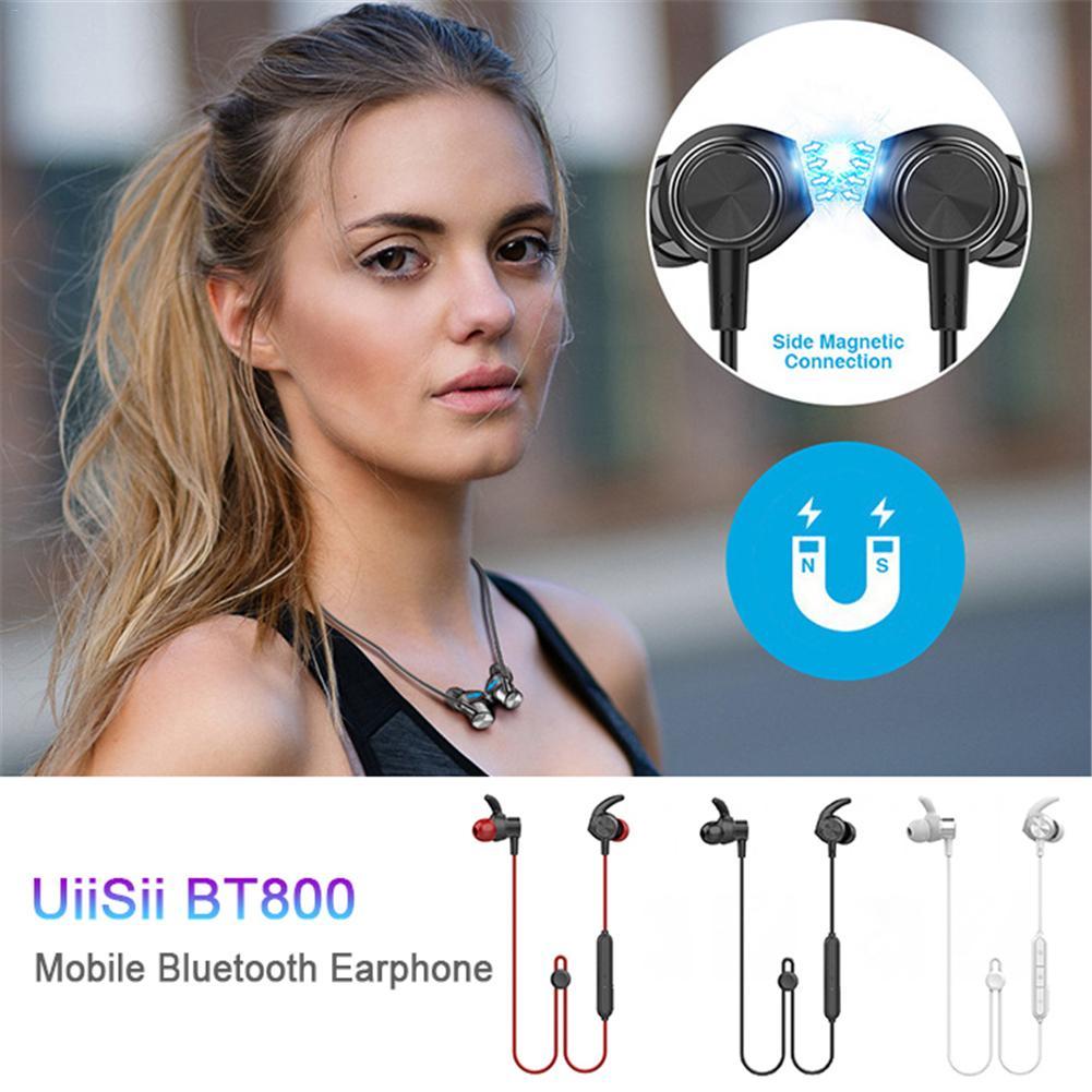 Pour UiiSii BT800 sport magnétique Bluetooth casque dynamique in-ear étanche casque bande de cou écouteur pour IPhone Android