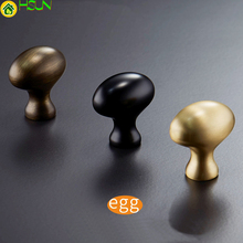 1pc Solid Brass Cabinet Knobs and Handles Drawer Furnitures Cupboard Wardrobe Vintage Door Pull