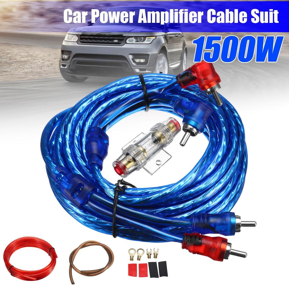 Rca Cable Wire Cords For Subwoofer Dvd Speaker Phono Shielded Stereo 1500w 8ga Car Audio Amplifier Amp Wiring Fuse Holder Installation Kit Power Agu