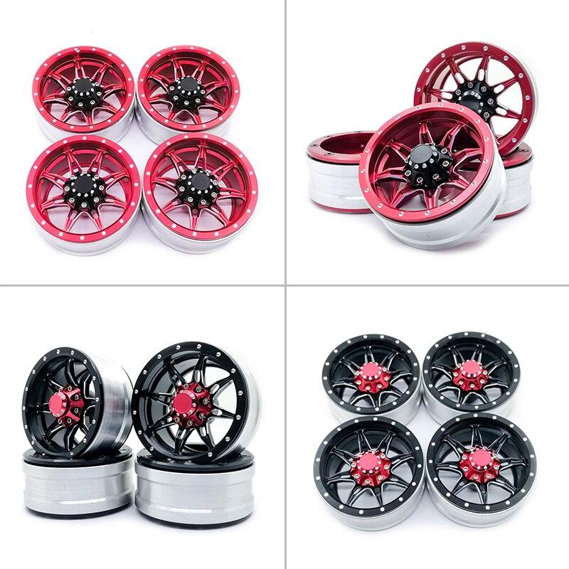 4 * moyeu de roue pour 1/10 voiture d'escalade D90 SCX10 CC01 TRX4 1.9 pouces RC moyeux de roue de voiture de haute qualité