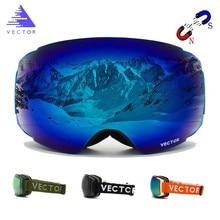 VECTOR Brand Ski Goggles Double UV400 Anti-fog New Big Mask Glasses Skiing Professional Men Women Snow Snowboard