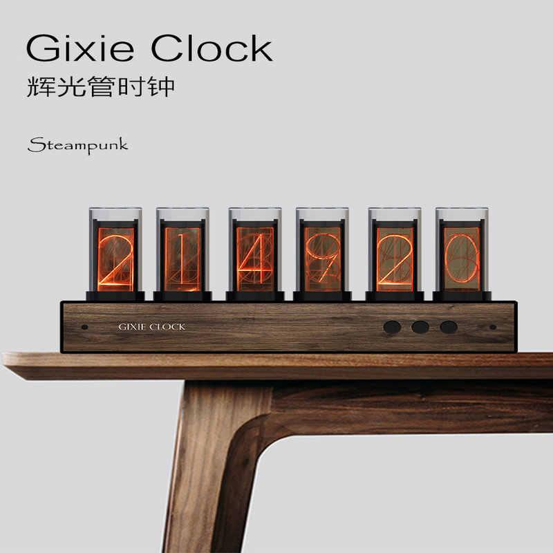Super Verkauf !!! 6 Bit RGB LED Glow Digitale Uhr Nixie Uhr Kit DIY Elektronische Retro Schreibtisch Uhr 5V Micro USB powered