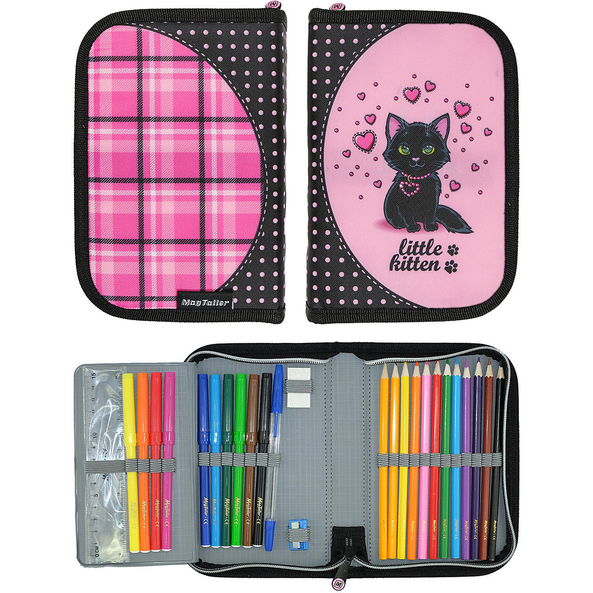 Pencil Cases MAGTALLER 11154862 school supplies stationery pencil cases for girls and boys drawing MTpromo angibabe office and school stationery pencil sharpener pink