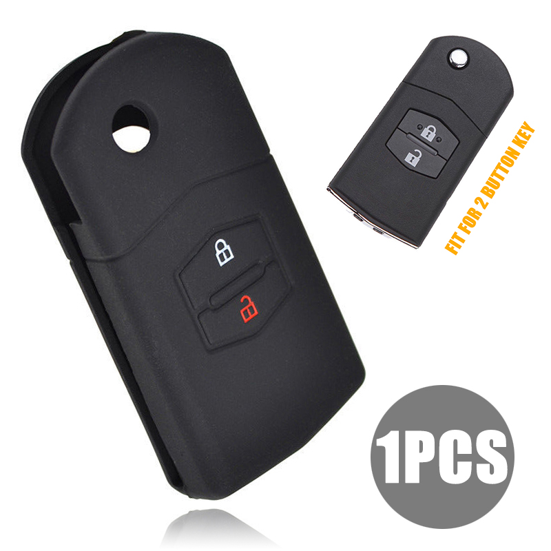 MAYITR 2 Button Silicone Key Case Cover For Mazda 2 3 5 6 Demio CX7 CX9 RX8 MX5 MPV