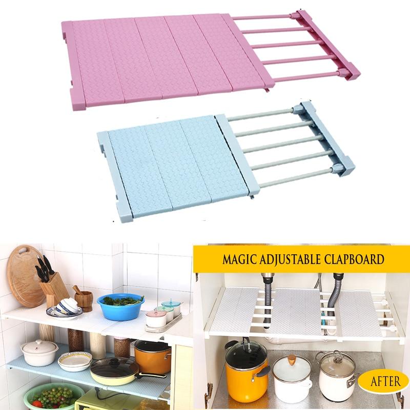 Adjustable Closet Organizer Storage Shelf Cupboard Tableware Holder Rack Kitchen Cabinet Organizer Shelf Room Wardrobe Clothes Buy At The Price Of 13 46 In Aliexpress Com Imall Com