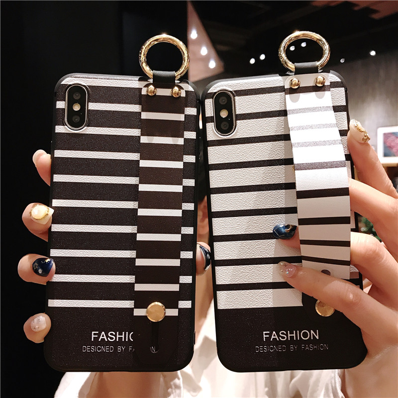 S10e Case Half Wrapped Phone Cases For Samsung Galaxy S10 Plus Fashion Bracket Wrist Band Soft TPU Cover For Samsung Galaxy S10e