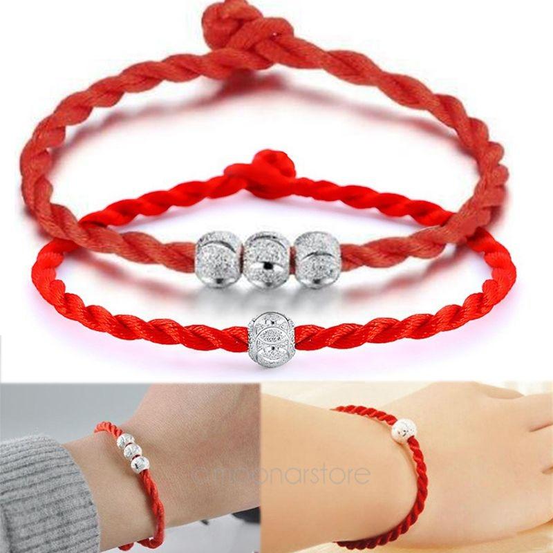 Red Bracelet Lucky Bead Red Thread String Bracelets Handmade Rope Bracelet for Women Men Jewelry Lover Couple armbanden #20