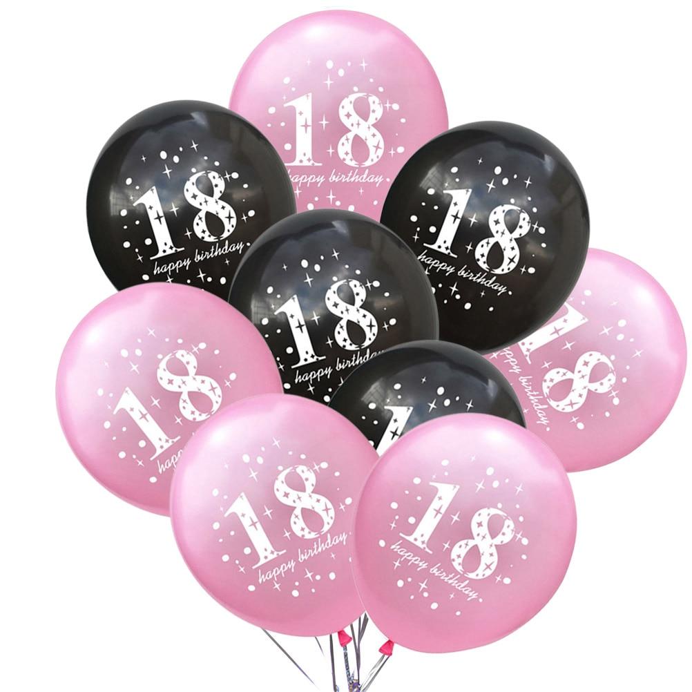 Ny 20pcs 18 års fødselsdag Balloner Pearl Latex Balloner-3074