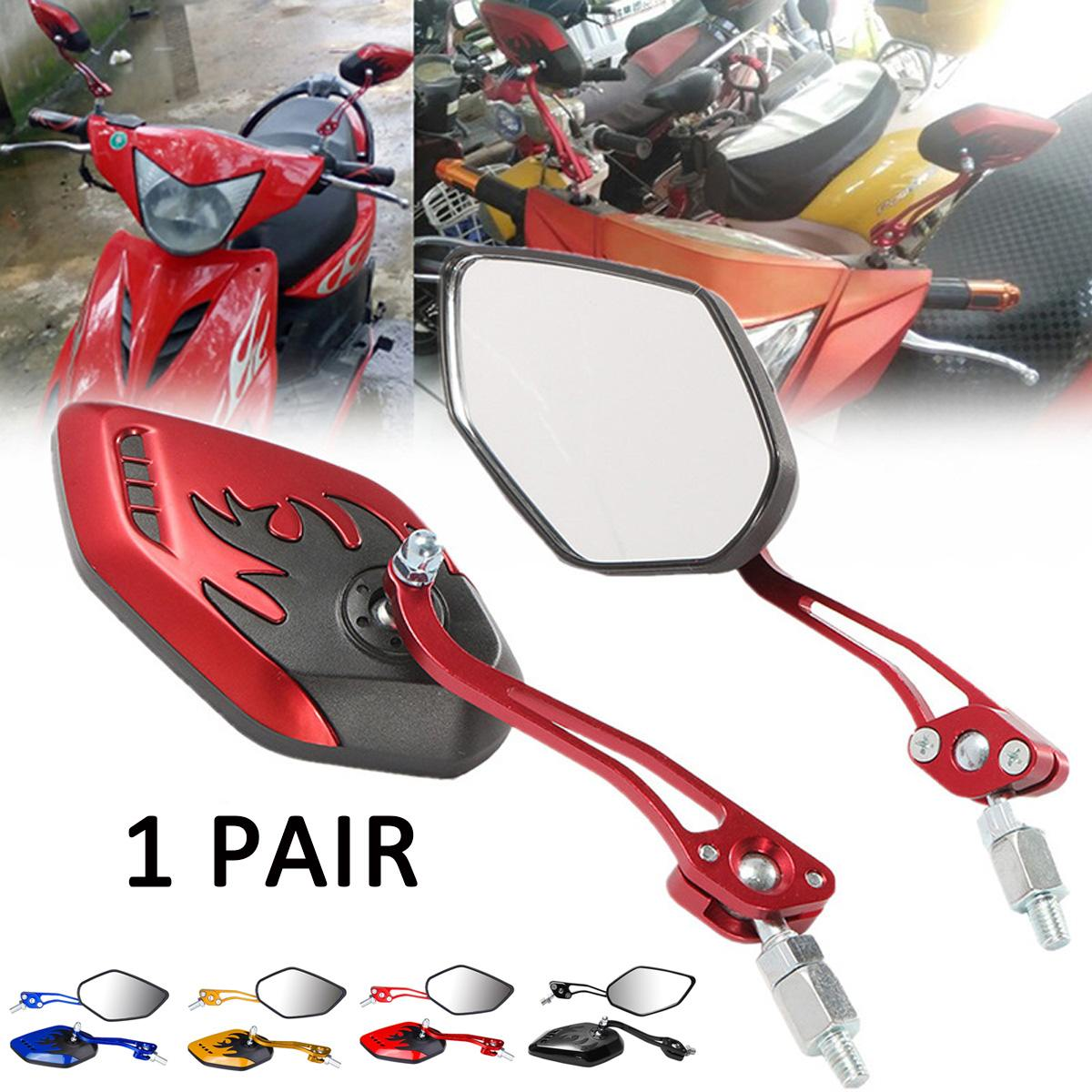2PCS/Set Universal Motorcycle Rearview Mirrors Motorbike 360 Degree Rotation Motorcycle Motorbike Scooter Side Mirrors 8 / 10mm