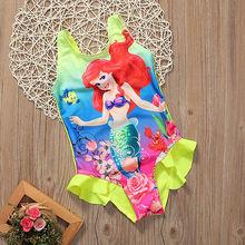 Summer New Baby Girl Kid Swimwear Lovely Yellow Sleevless Backless Mermaid Swimming Swimsuit Bikini Tankini Bathing Set AU