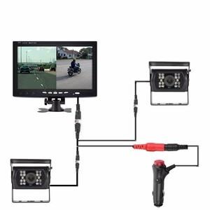 "Image 2 - OHANEE 7 ""TFT LCD araba monitör ekran DC 12 V 24 V ve 4 Pin IR gece görüş dikiz kamera otobüs kamyon RV karavan römorkları"