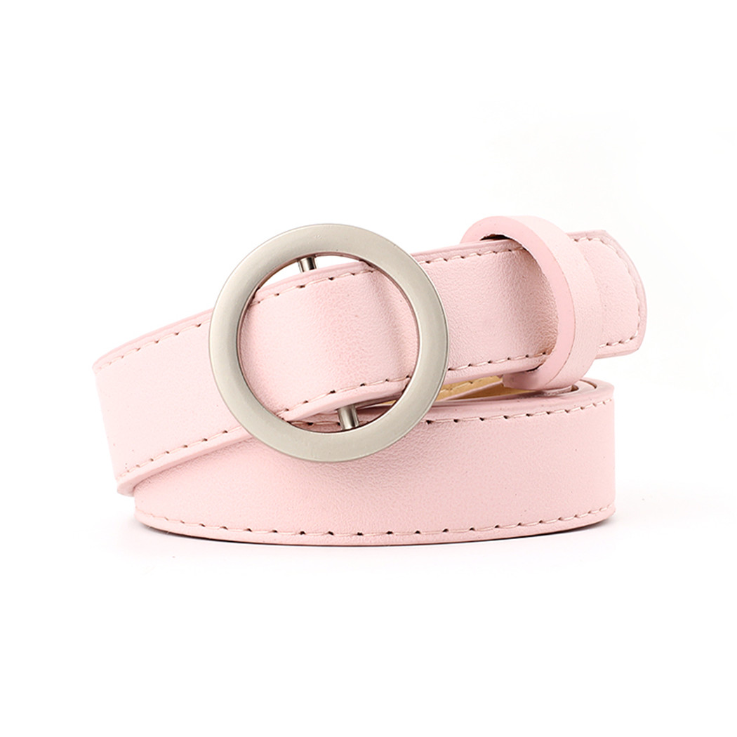 314e486c702 US $2.7 35% OFF|Fashion Belts Women Metal Round Buckle Faux Leather Belt 10  Colors Waistband Vintage Female Girls Solid Belt For Dress Jeans-in ...