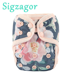[Sigzagor]1 Newborn Baby Cloth Diaper Cover Nappy, Adjustable Waterproof PUL Double Gusset,4.4-10lbs, 2-5kg,40 Choices(China)