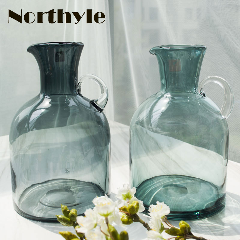 DH Luxury europe traditional Glass Vase home furnishing decoration Flower glass flower bottle wedding gift