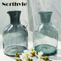 Luxury europe traditional Glass Vase home decoration accessories Flower glass terrarium bottle plant stand crystal vase