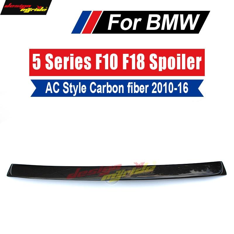 F10 wing Rear Roof spoiler 2010-16 For BMW 5 Series 520i 525i 528i 530i 535i Carbon Fiber M5 AC style